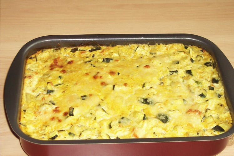 Clafoutis de courgettes au curry