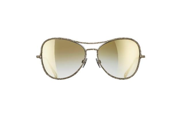77cc48c1f78d Lunettes de soleil pilote de Chanel