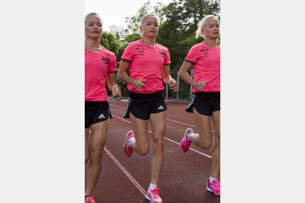 Lily, Liina et Leila Luik : athlétisme