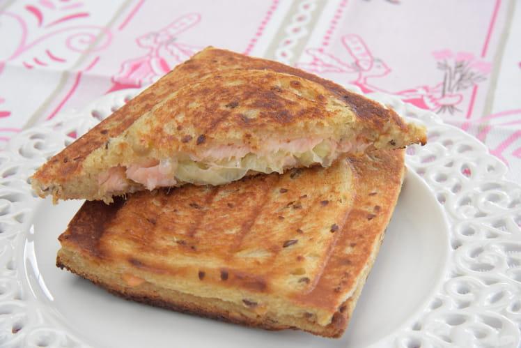 Croque poireaux et saumon