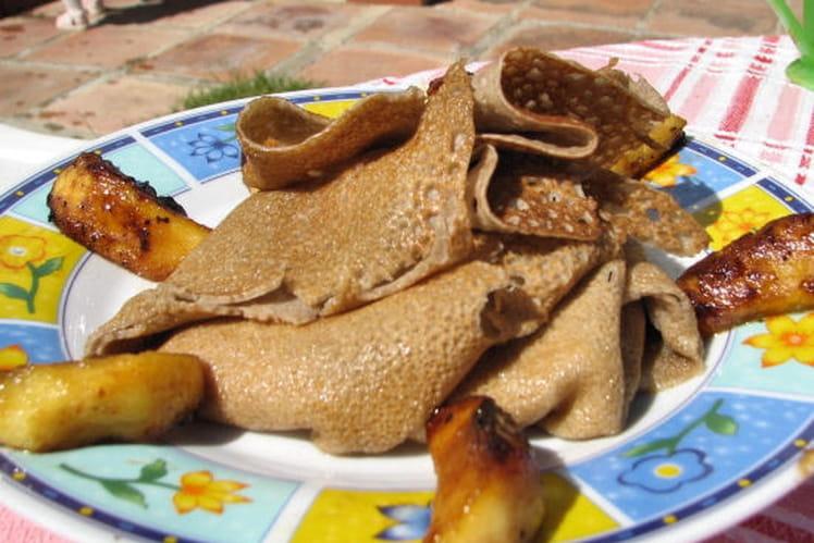 Tourbillon de galette aux pommes caramélisées