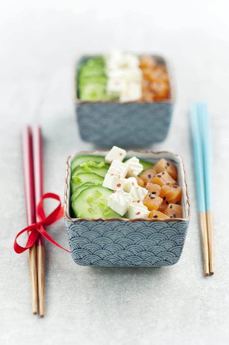 recette de salade concombre et saumon caprice des anges la recette facile. Black Bedroom Furniture Sets. Home Design Ideas