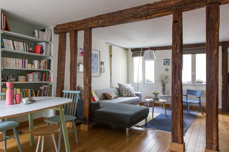 une pi ce traversante pour plus de lumi re. Black Bedroom Furniture Sets. Home Design Ideas