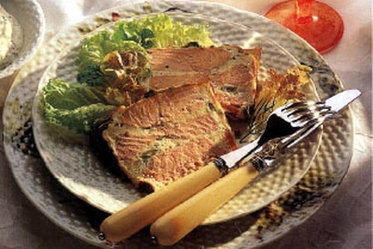 Terrine de saumon aux légumes