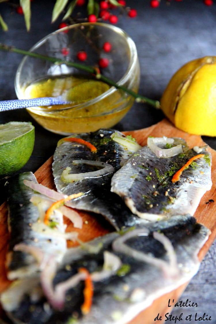 Recette de sardines marin es sur planchette la recette - Comment cuisiner des filets de sardines ...
