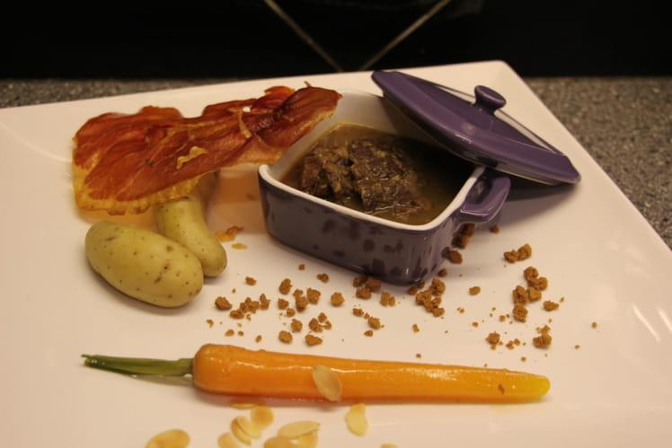 Joues de bœuf mijotées à la Grimbergen et carottes