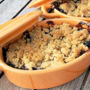 crumble pommes myrtilles
