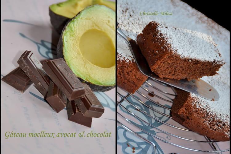 Gâteau moelleux avocat et chocolat