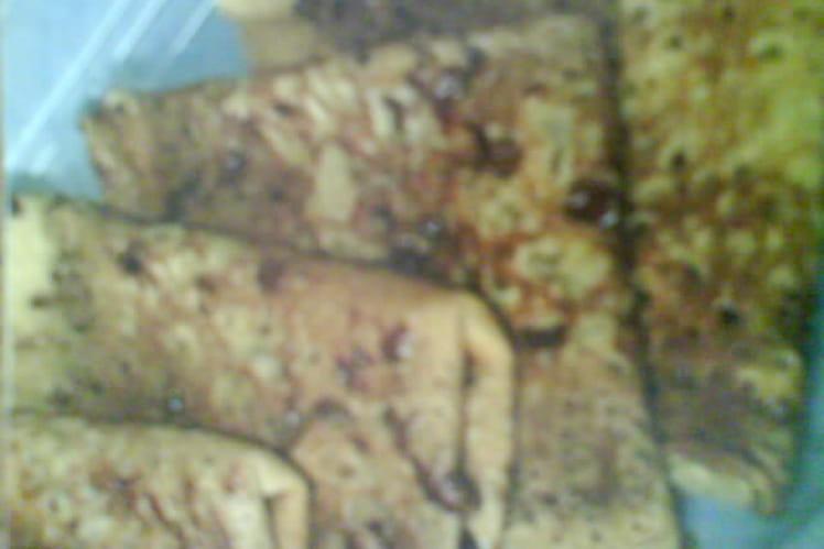 Crêpes à la pistache fourrées au chocolat