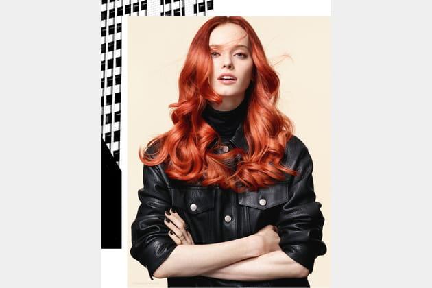 Longueurs rousses flamboyantes