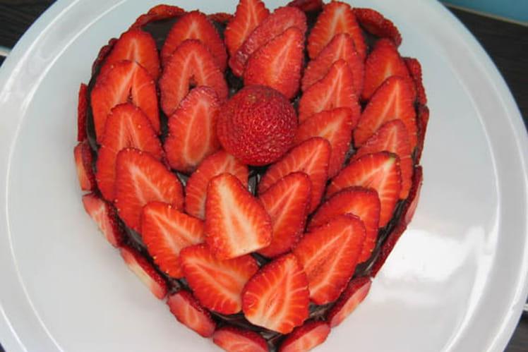 Coeur choco-fraises