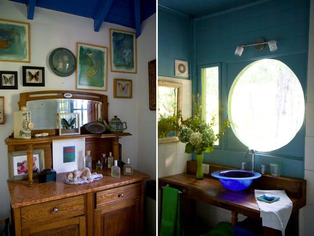 Mobilier de salle de bains vintage