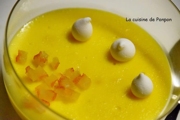 Crème mistralette parfumée à l'orange