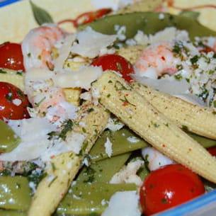 salade aux cocos plats et crevettes