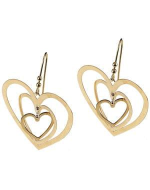 les boucles d'oreilles en or du manège à bijoux