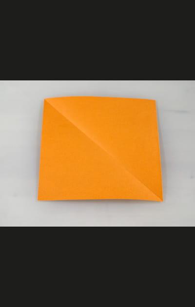 Origami chat - Préparation