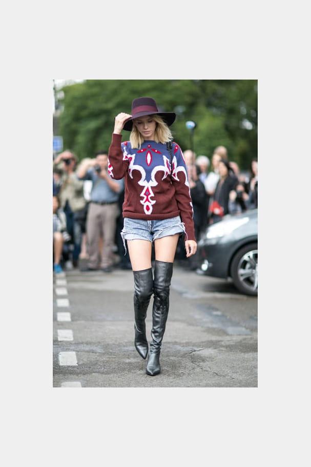 Street looks fashion week haute couture : aventurier