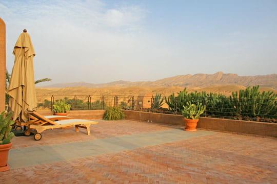 Une terrasse sur les dunes
