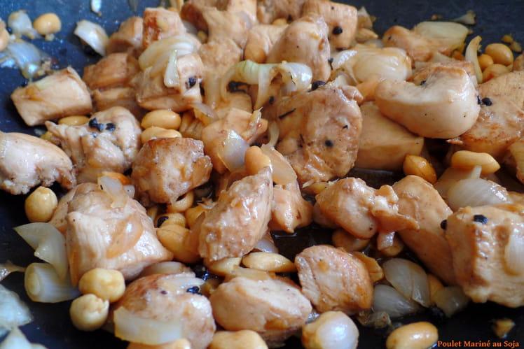 Poulet mariné au soja