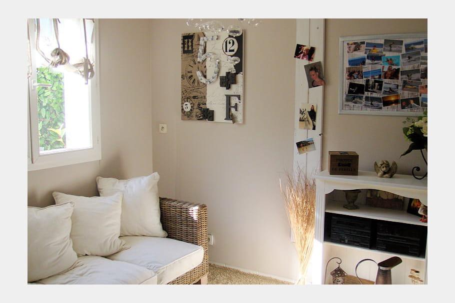 un coin d tente en osier et en lin visitez la maison de gael journal des femmes. Black Bedroom Furniture Sets. Home Design Ideas
