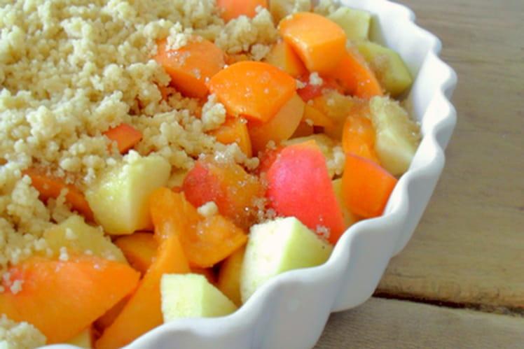 Crumble pommes et abricots