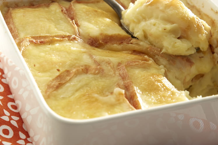 Purée de pommes de terre Ratte du Touquet gratinée au maroilles