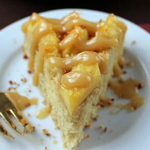 gâteau à la pomme, caramélisé au jus de pomme
