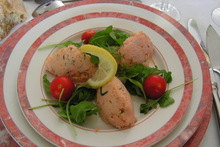 Rillettes aux deux saumons, fromage frais et vin blanc