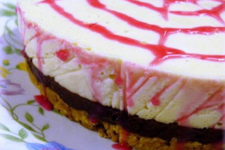 Cheesecake chocolat-vanille aux petits-beurres