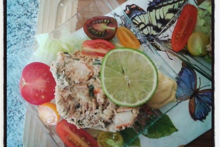Terrine de thon et crabe au surimi