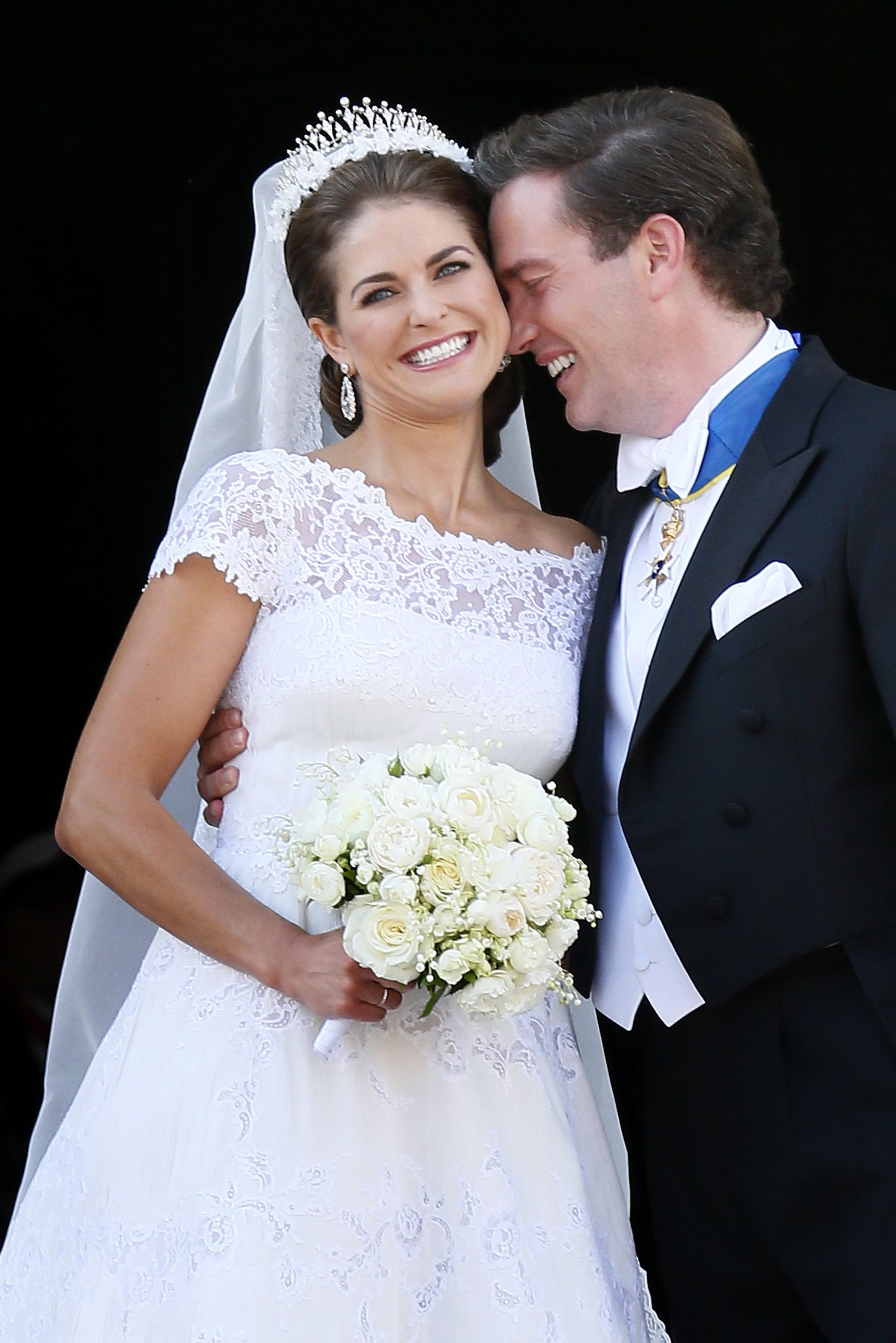 La princesse madeleine de su de et christopher o 39 neill for Robe pour mariage de jardin