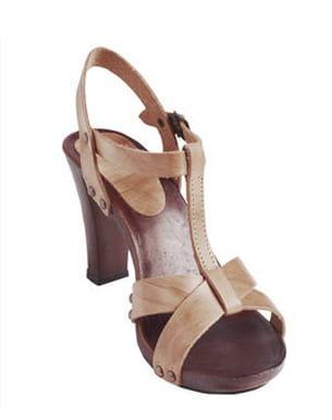 sandales en cuir de casino