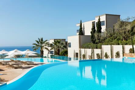 L'incroyable vue des chambre à l'hôtel Ikos Oceania