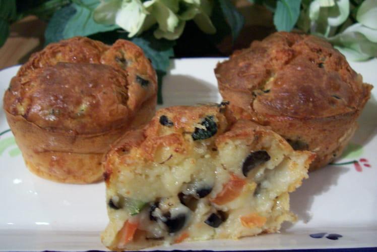 Muffins aux fromages et légumes