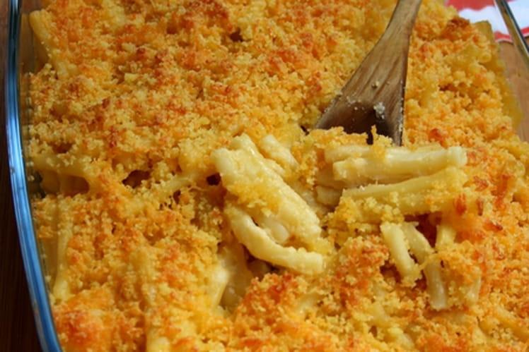 Gratin de macaroni au cheddar - Mac & cheese