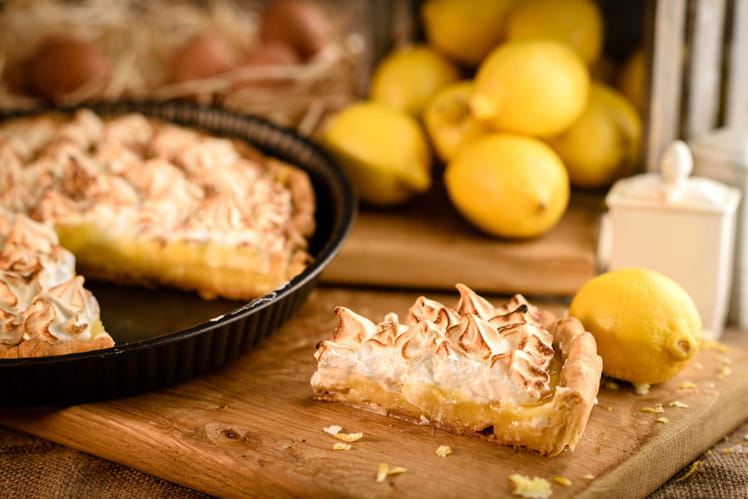 Tarte au citron meringuée délicieuse