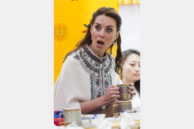 Kate Middleton a royalement mimé l'ahurissement