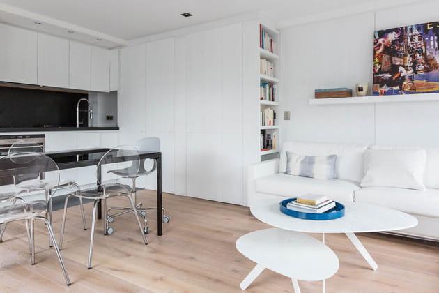 Salon blanc 18 ambiances pour une pi ce lumineuse et for Cuisine salon 25m2