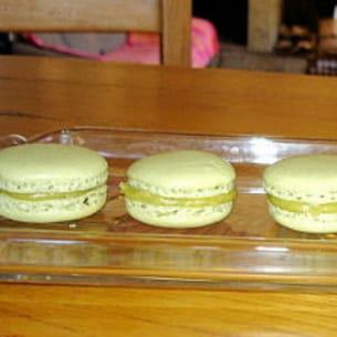 macarons thé vert au citron