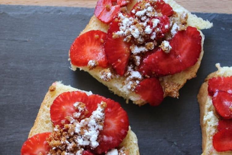 Croque fraises-speculoos