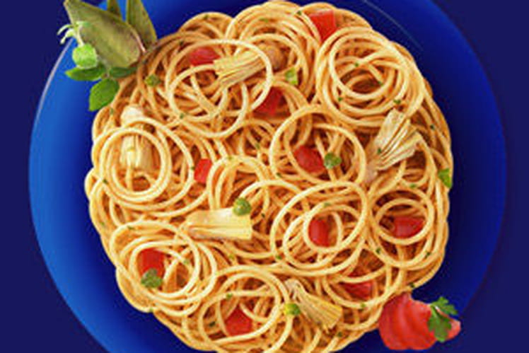 Spaghetti Integrali aux coeurs d'artichauts et tomates fraîches