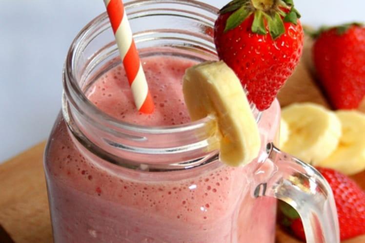 Smoothie fraise et banane