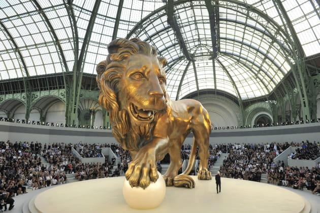 Le décor du défilé Chanel haute couture automne-hiver 2010-2011