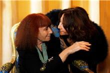 sonia rykiel et sa fille nathalie lors de la remise de mã©daille