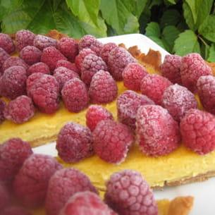 tarte chocolat blanc - framboises