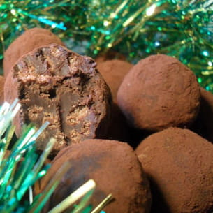 truffes 70% de cacao au riz soufflé