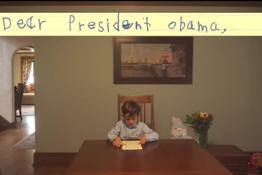 A 6ans, Alex écrit au Président Obama pour adopter un enfant syrien
