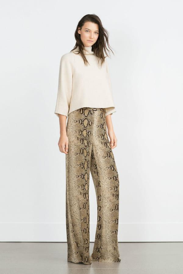 exclusive deals sale online best prices Pantalon serpent de Zara