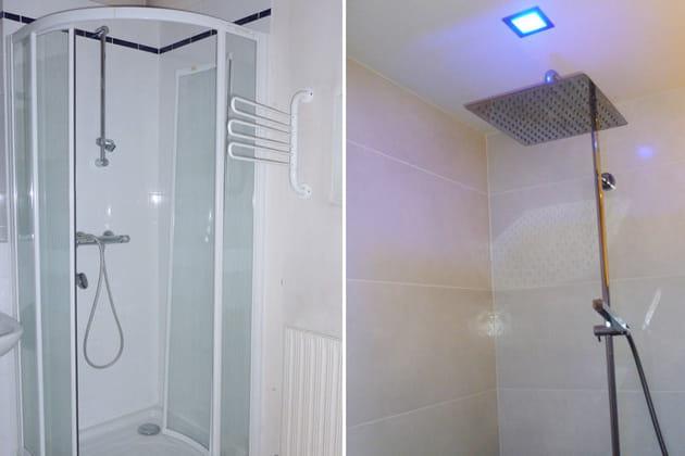 Avant-après : la douche à l'italienne