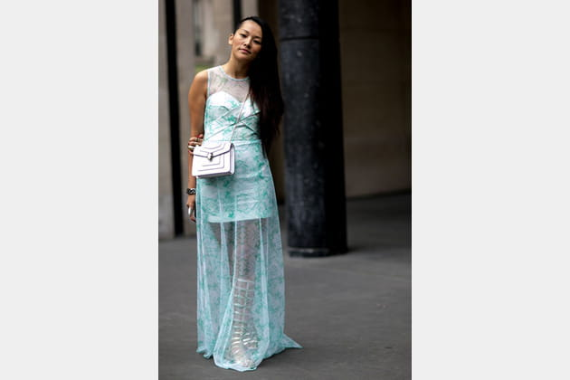 Street looks fashion week haute couture : vestale